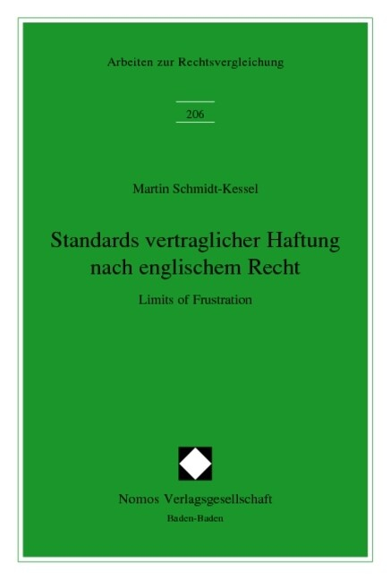 Standards vertraglicher Haftung nach englischem Recht als Buch