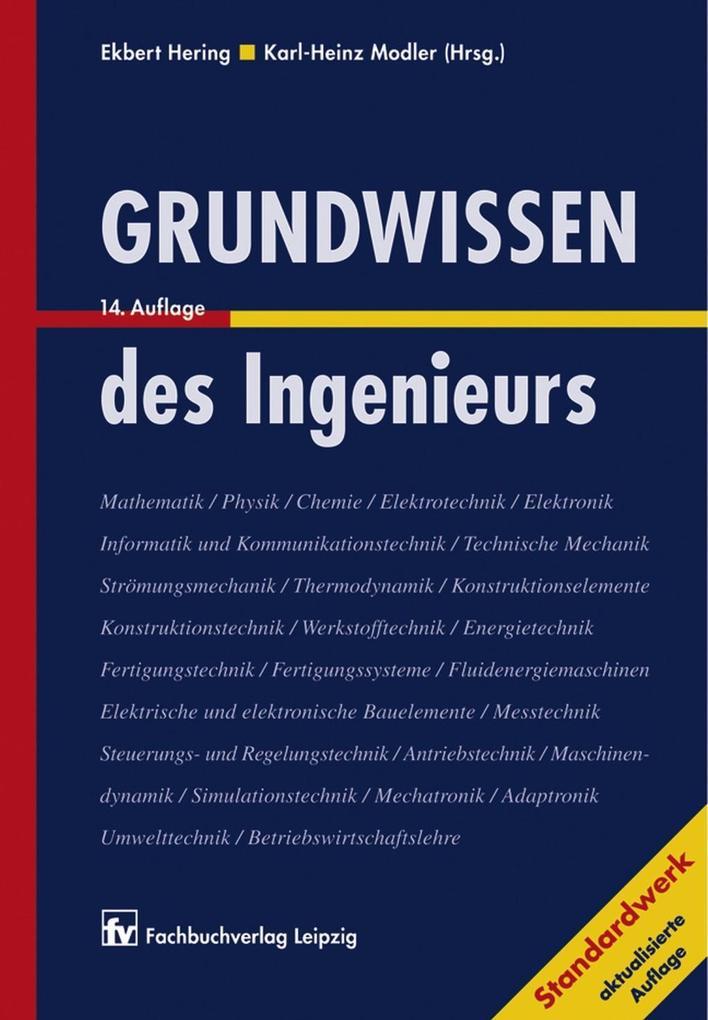 Grundwissen des Ingenieurs als eBook Download von