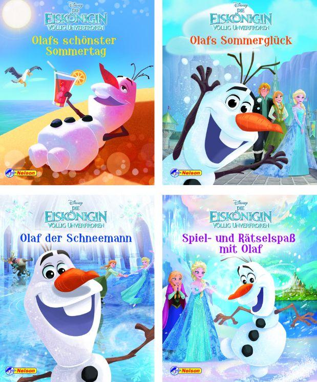 Nelson Mini-Bücher: Olaf der Schneemann 1-4