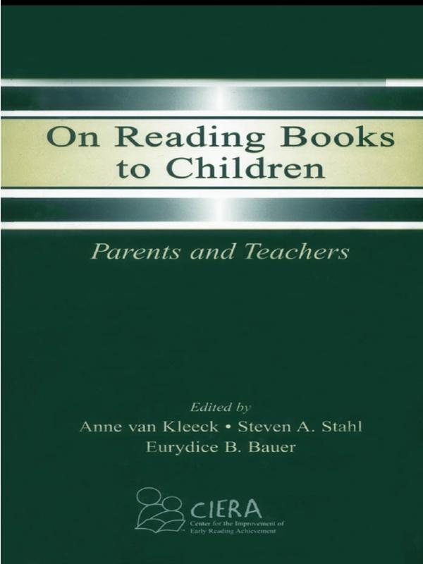 On Reading Books to Children als eBook Download...