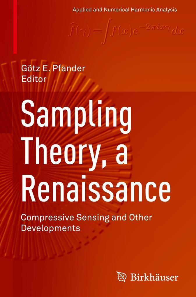 Sampling Theory, a Renaissance als Buch von