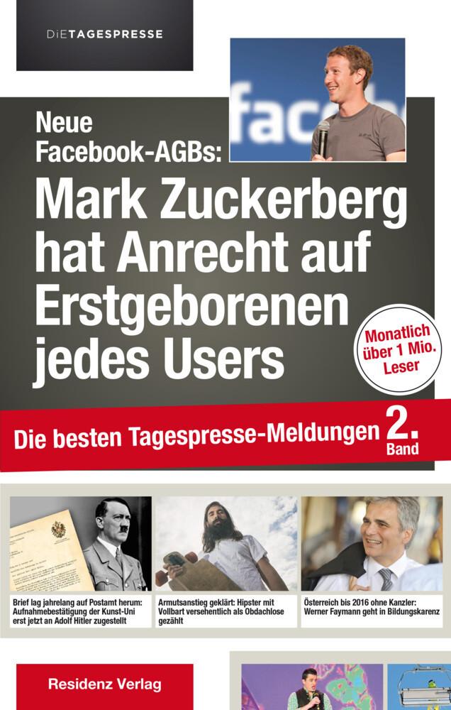 Neue Facebook-AGBs: Mark Zuckerberg hat Anrecht auf Erstgeborenen als Buch