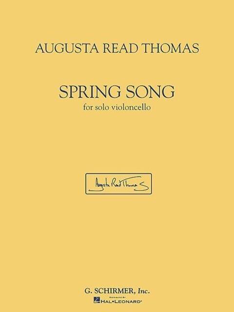 Spring Song: For Solo Violoncello als Taschenbuch