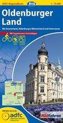 ADFC-Regionalkarte Oldenburger Land mit Tagestouren-Vorschlägen 1 : 75.000