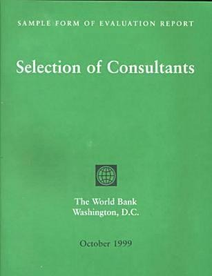 Sample Form of Evaluation Report: Selection of Consultants als Buch