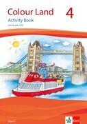 Colour Land. Activity Book mit Audio-CD. Ausgabe für Bayern. Klasse 4