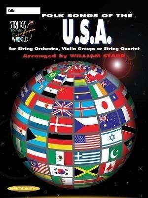 Strings Around the World -- Folk Songs of the U.S.A.: Cello als Taschenbuch