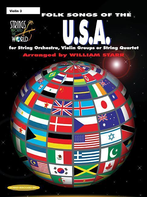 Strings Around the World -- Folk Songs of the U.S.A.: Violin 3 als Taschenbuch
