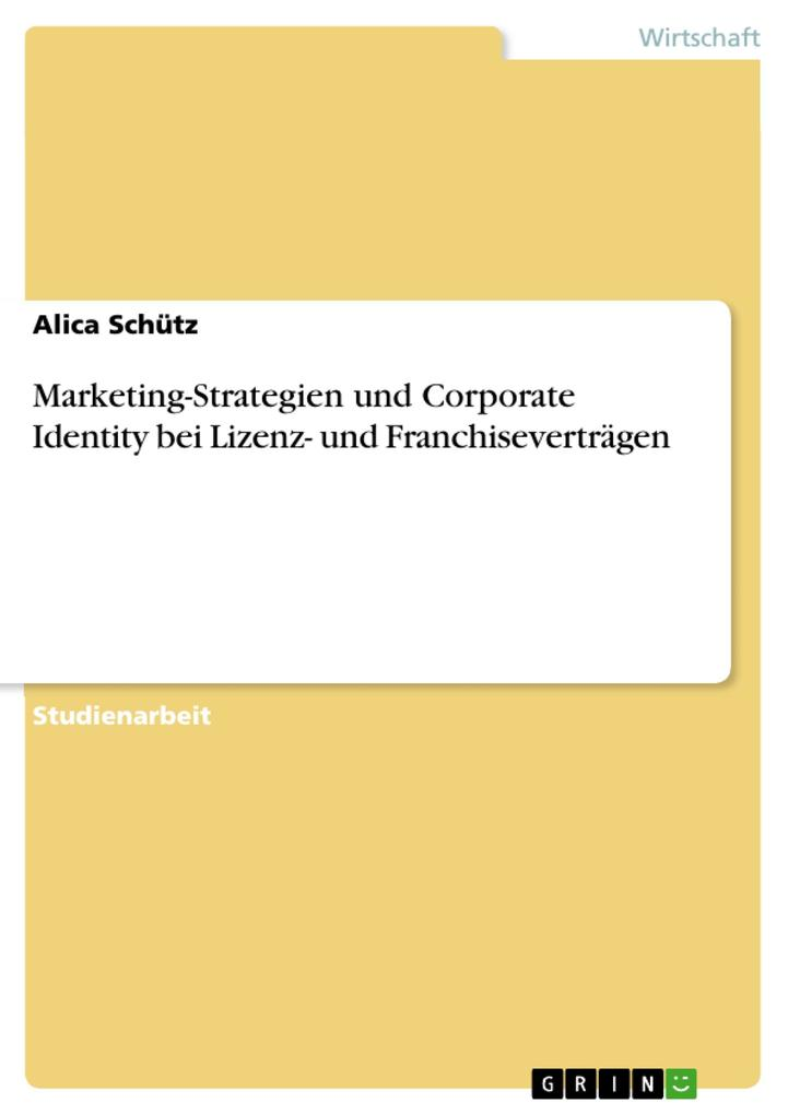 Marketing-Strategien und Corporate Identity bei...