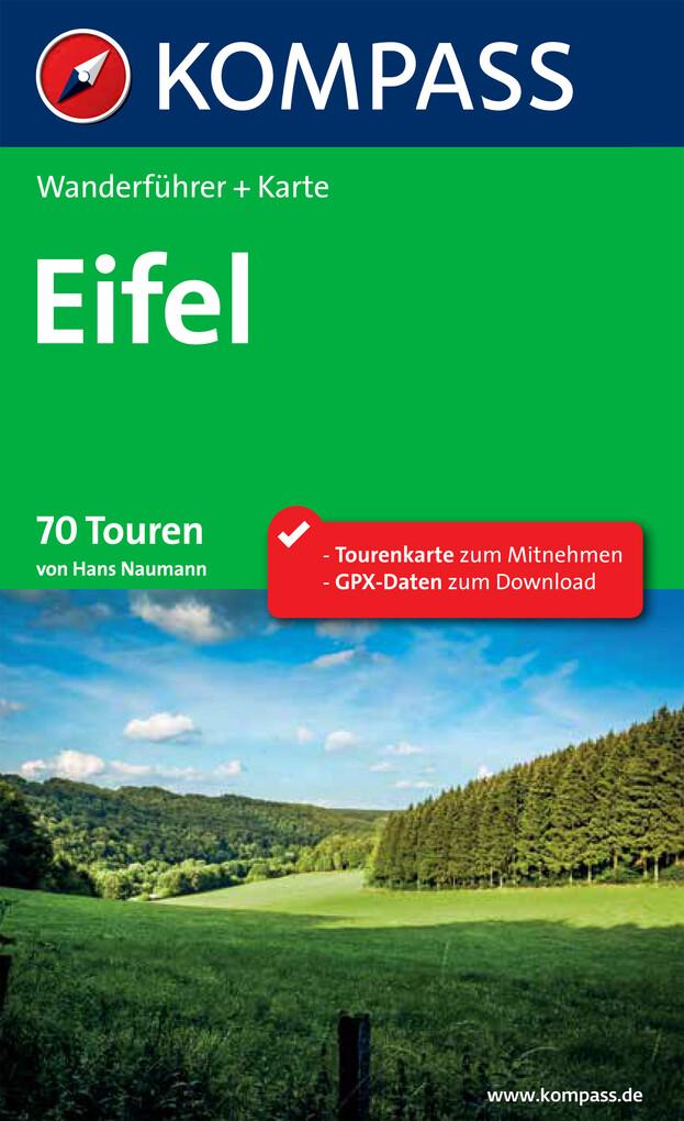 Kompass Wanderführer Eifel als eBook Download v...