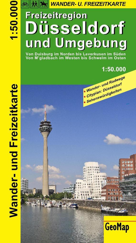 Radwanderkarte Düsseldorf und Umgebung 1 : 50 0...