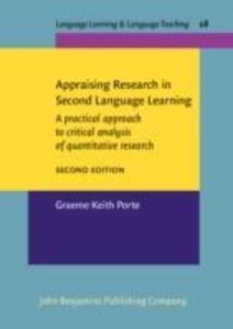 Appraising Research in Second Language Learning als Taschenbuch