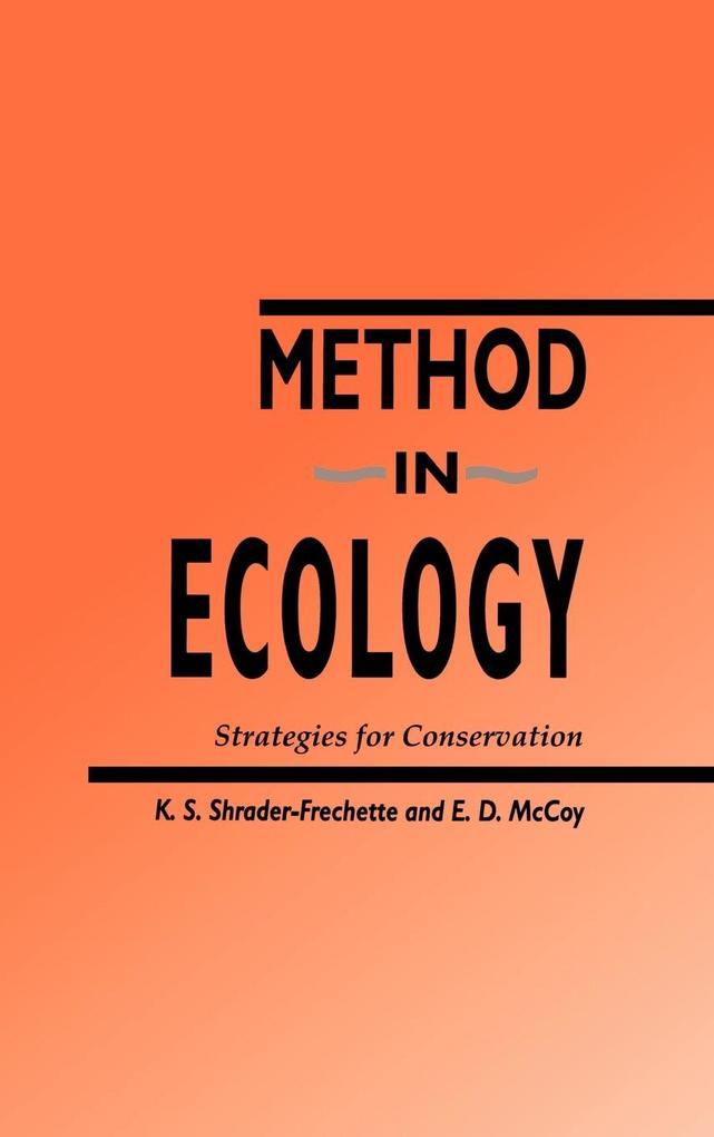 Method in Ecology: Strategies for Conservation als Buch