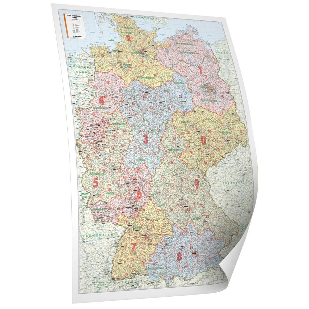 Bacher Poster Postleitzahlen Deutschland als Bu...