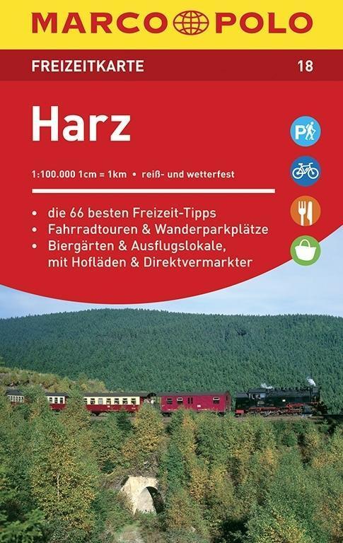 MARCO POLO Freizeitkarte 18 Harz 1 : 100 000 al...