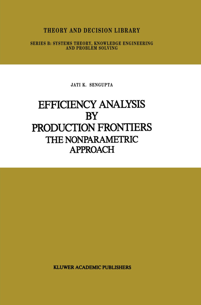 Efficiency Analysis by Production Frontiers als Buch