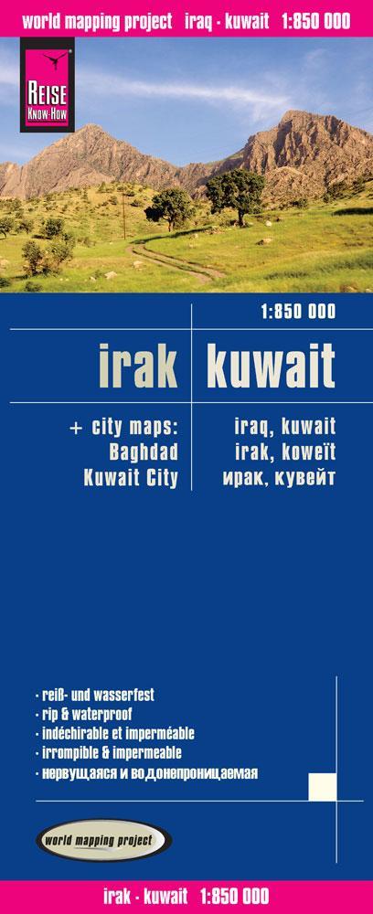 Reise Know-How Landkarte Irak, Kuwait 1 : 850.0...