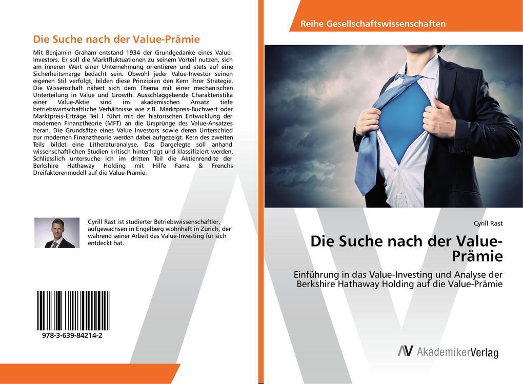 Die Suche nach der Value-Prämie als Buch von Cy...