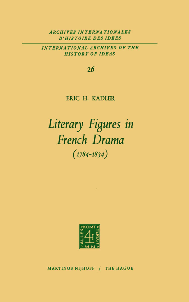 Literary Figures in French Drama (1784-1834) als Buch