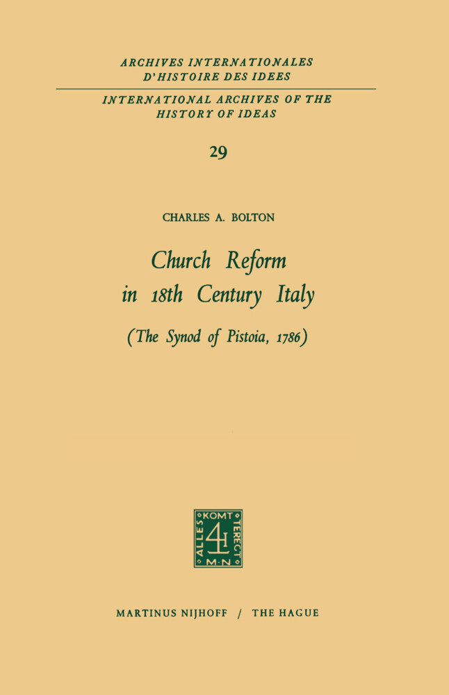 Church Reform in 18th Century Italy als Buch