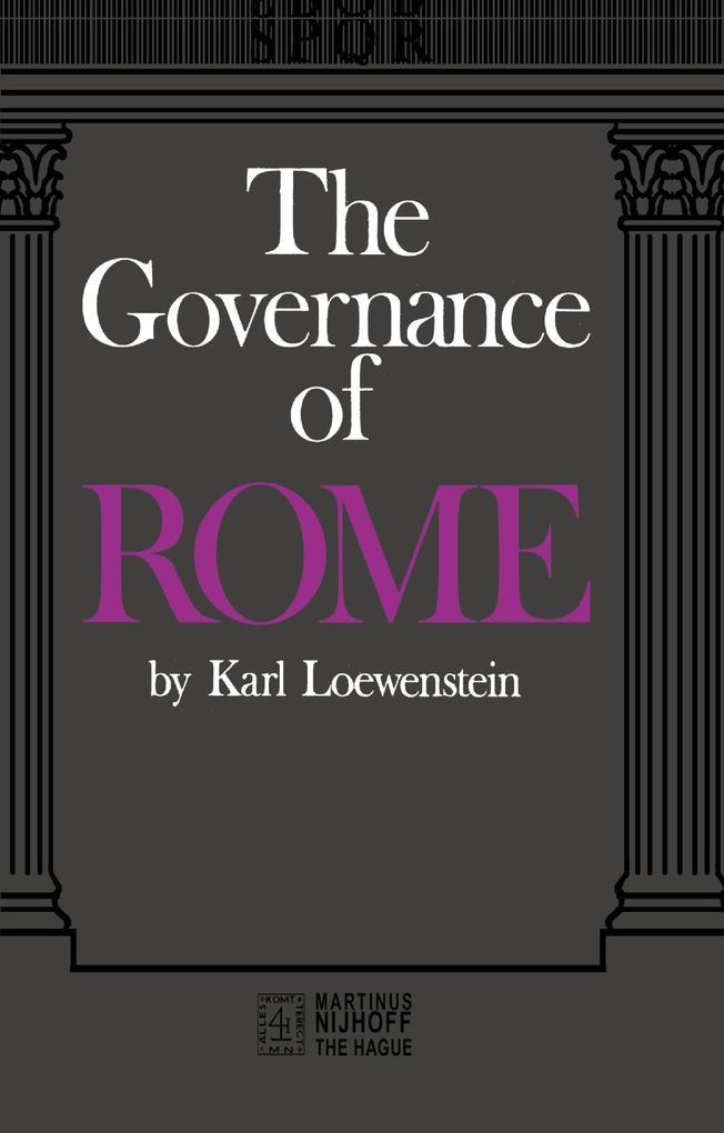The Governance of ROME als Buch (kartoniert)
