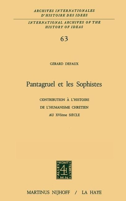 Pantagruel et les sophistes als Buch