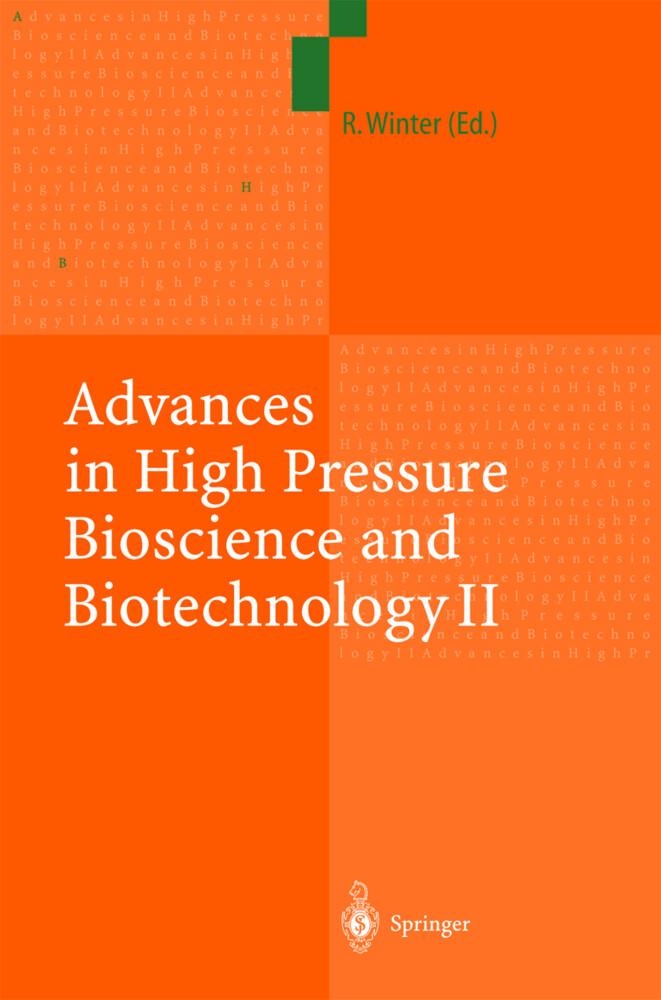 Advances in High Pressure Bioscience and Biotechnology II als Buch
