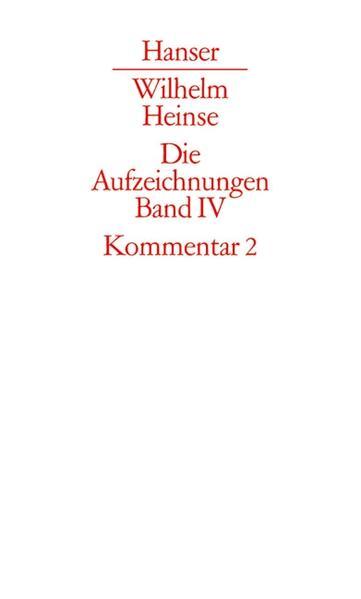 Kommentar zu Band 2. Register, Bibliographie als Buch