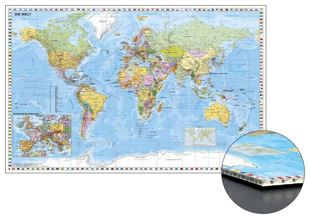 Stiefel Wandkarte Grossformat Weltkarte Mit Ausschnitt