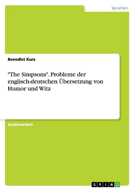 The Simpsons. Probleme der englisch-deutschen Ü...