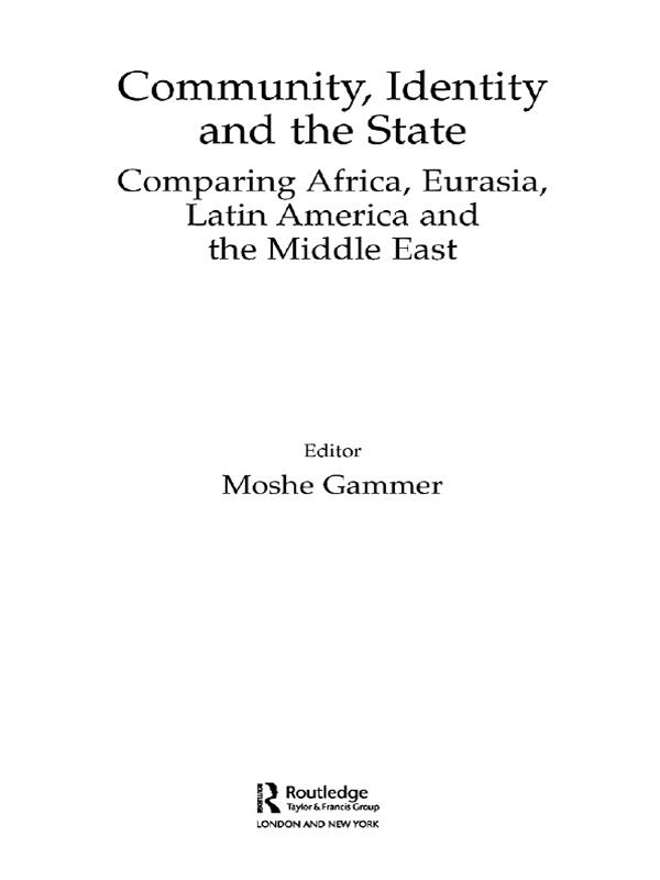 Community, Identity and the State als eBook Dow...