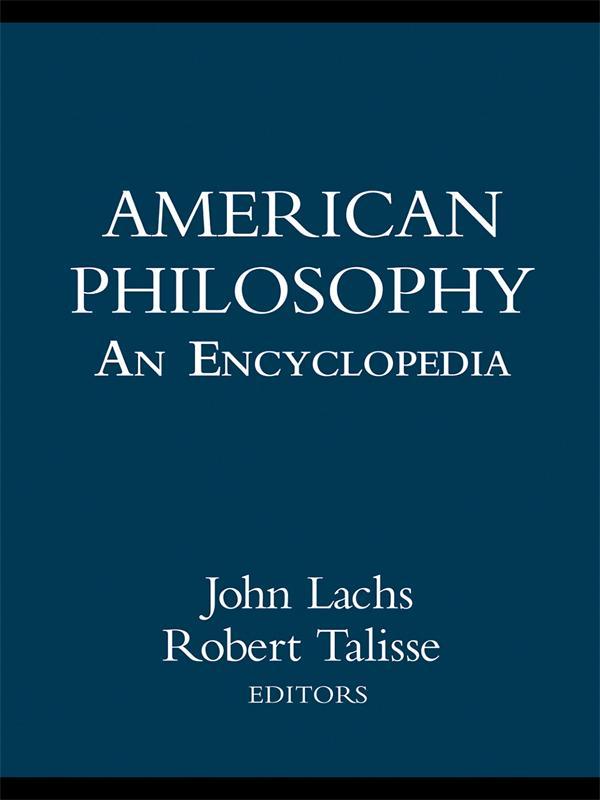 American Philosophy: An Encyclopedia als eBook pdf