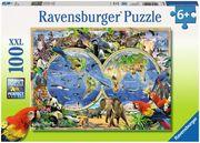 Tierisch um die Welt Puzzle 100 Teile