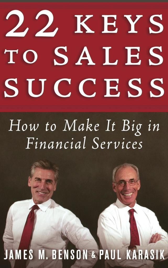 22 Keys to Sales Success als Buch