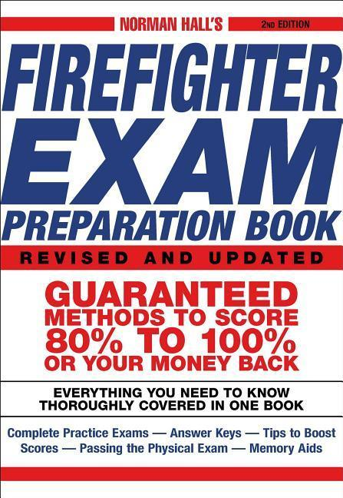 Norman Hall's Firefighter Exam Preparation Book als Taschenbuch