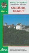 Karte des Schwäbischen Albvereins 09 Crailsheim - Gaildorf 1 : 35 000