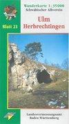 Karte des Schwäbischen Albvereins 21 Ulm - Herbrechtingen 1 : 35 000