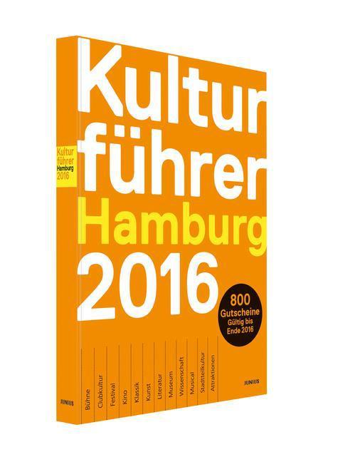 Kulturführer Hamburg 2016 als Buch von