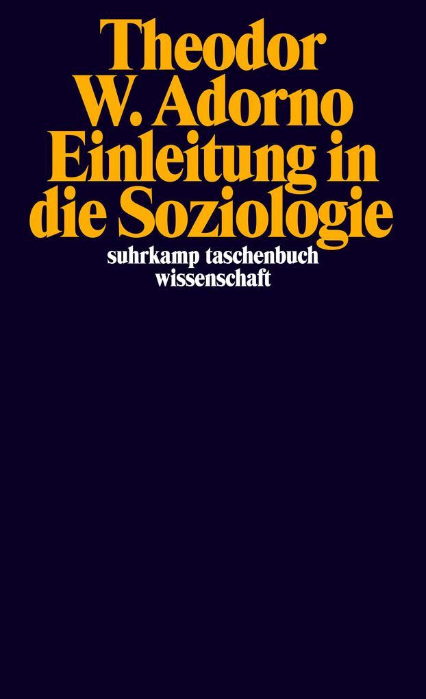 Einleitung in die Soziologie als Taschenbuch