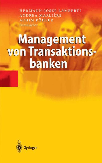 Management von Transaktionsbanken als Buch