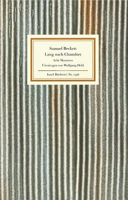 Lang nach Chamfort als Buch