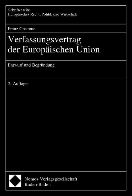Verfassungsvertrag der Europäischen Union als Buch