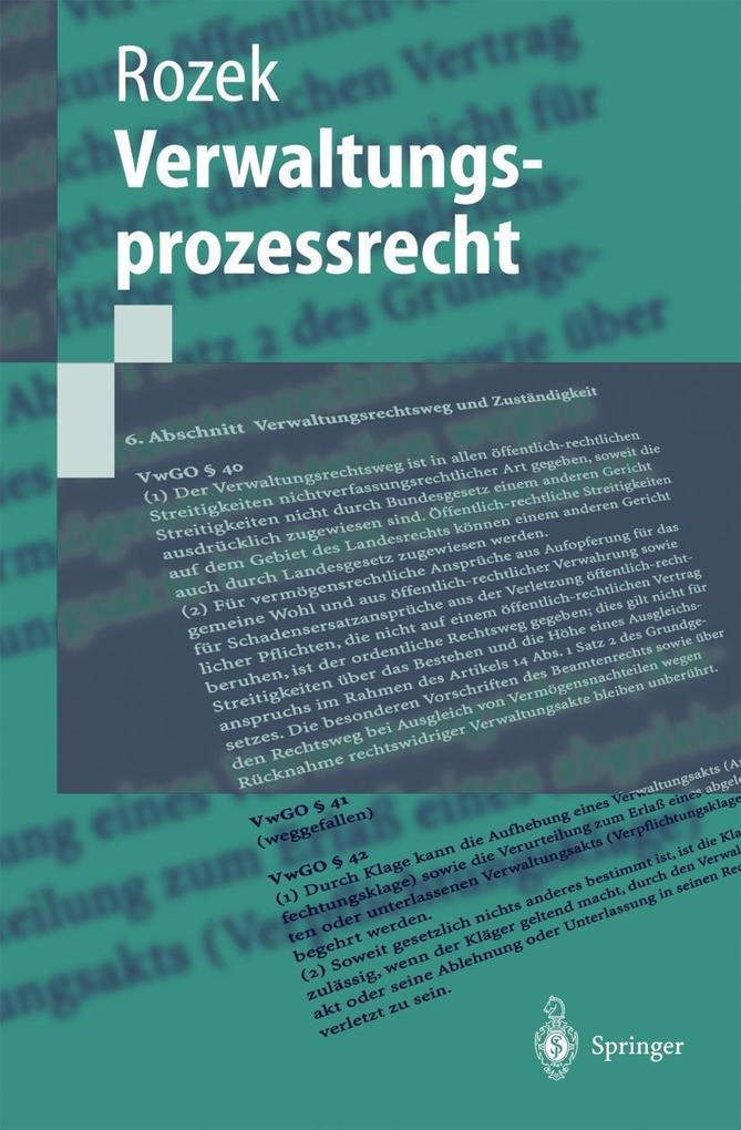 Verwaltungsprozessrecht als Buch
