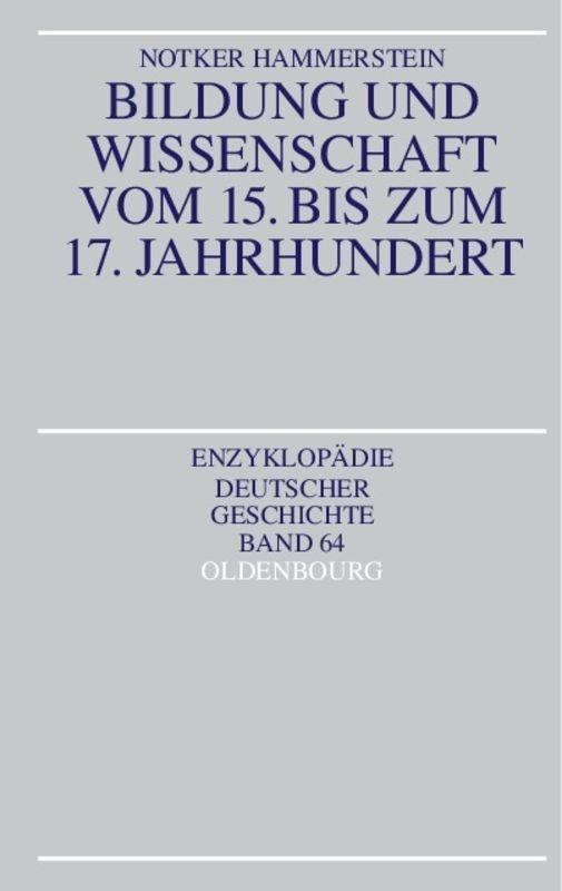 Bildung und Wissenschaft vom 15. bis zum 17. Jahrhundert als Buch