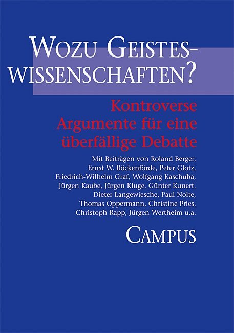 Wozu Geisteswissenschaften? als Buch