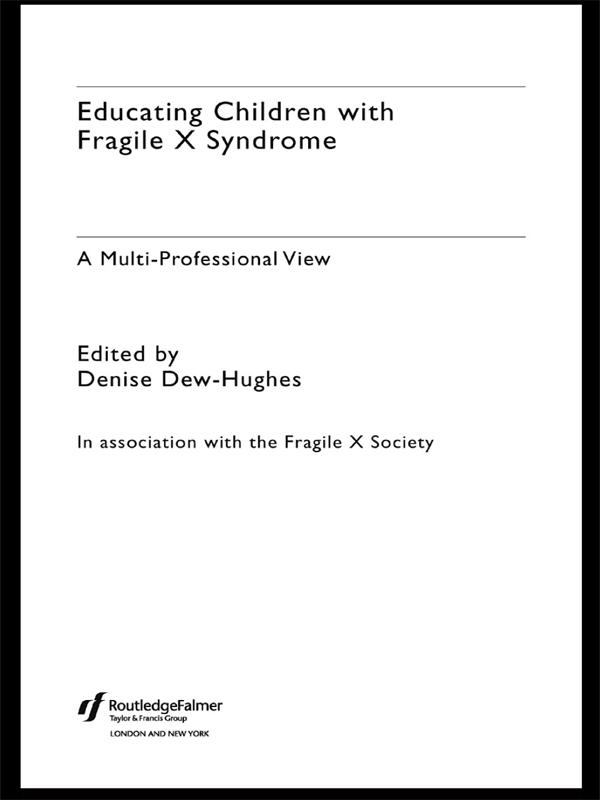 Educating Children with Fragile X Syndrome als ...