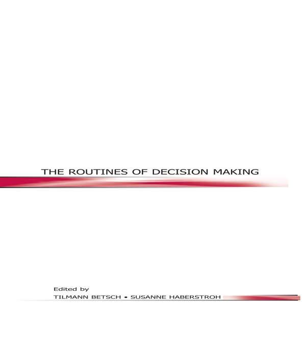 Routines of Decision Making als eBook Download von