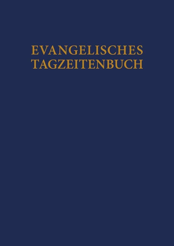Evangelisches Tagzeitenbuch als Buch