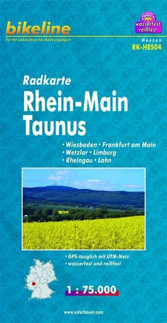 Bikeline Radkarte Deutschland Rhein-Main Taunus...