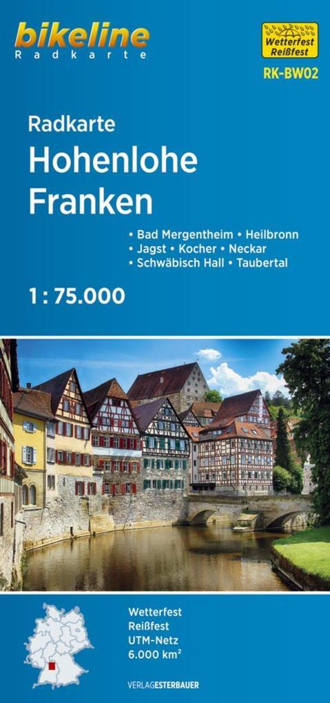 Bikeline Radkarte Deutschland Hohenlohe - Franken 1 : 75 000 als Buch